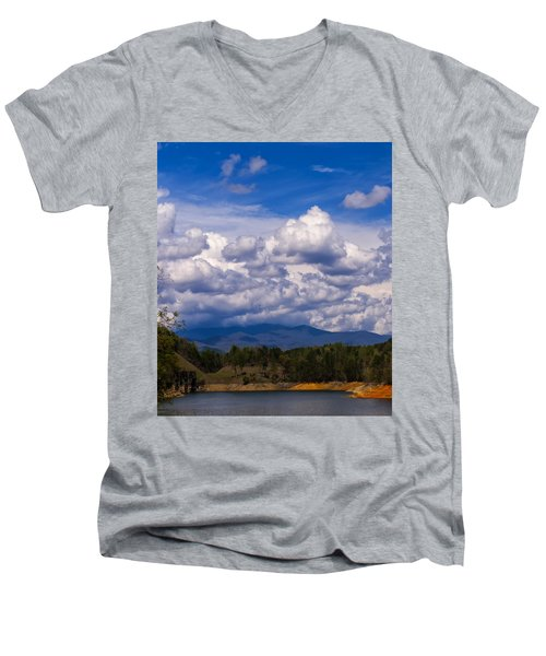 Fontana Lake Storm 2 Men's V-Neck T-Shirt
