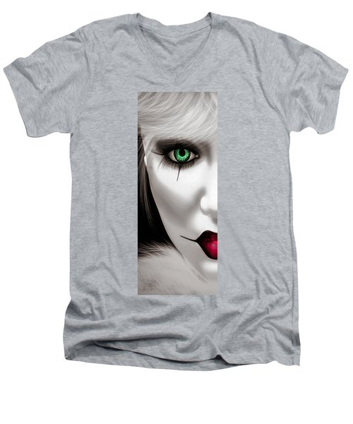 Fool Men's V-Neck T-Shirt by Bob Orsillo