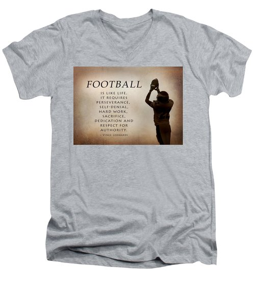 Football Men's V-Neck T-Shirt
