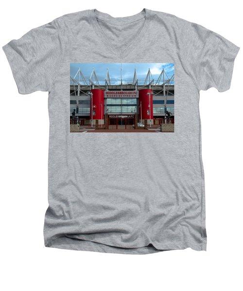 Football Stadium - Middlesbrough Men's V-Neck T-Shirt