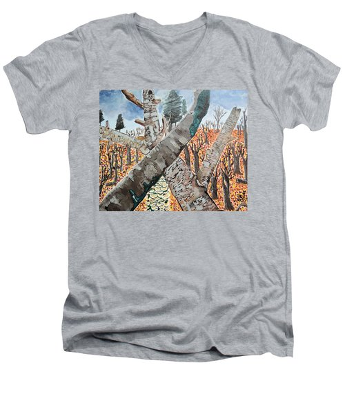 For The Trees Men's V-Neck T-Shirt