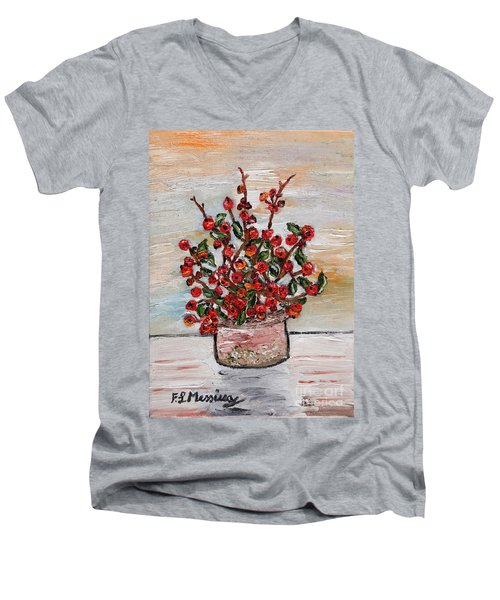 For You Men's V-Neck T-Shirt by Loredana Messina