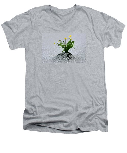 Men's V-Neck T-Shirt featuring the photograph Force Of Nature by Dreamland Media