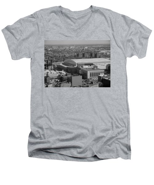 Ford Field Bw Men's V-Neck T-Shirt