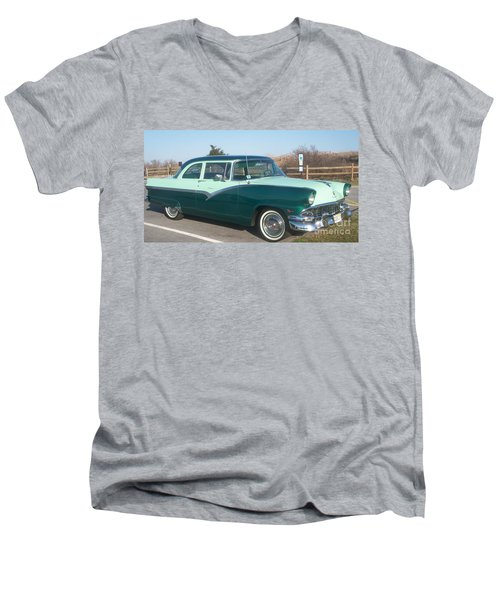 Ford Mercury Men's V-Neck T-Shirt by Eric  Schiabor