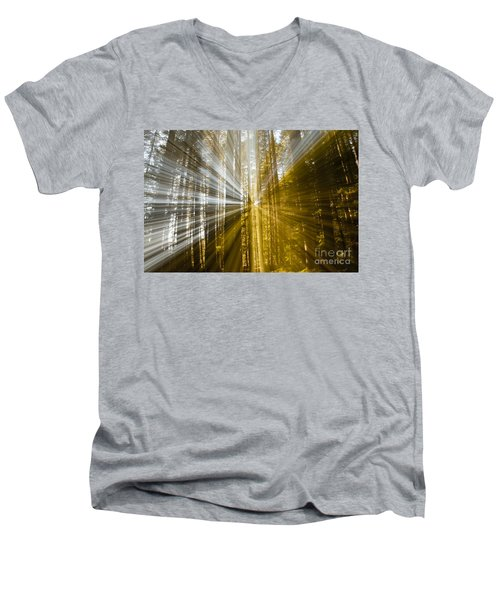 Forest Abstract Men's V-Neck T-Shirt