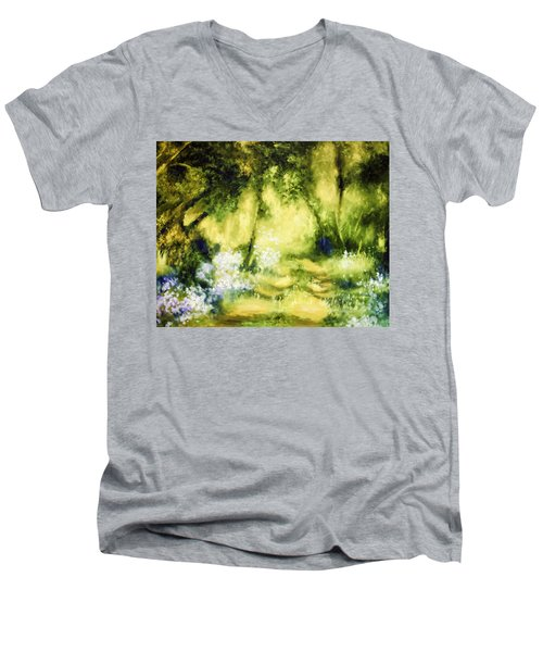 Forest Bluebells Men's V-Neck T-Shirt