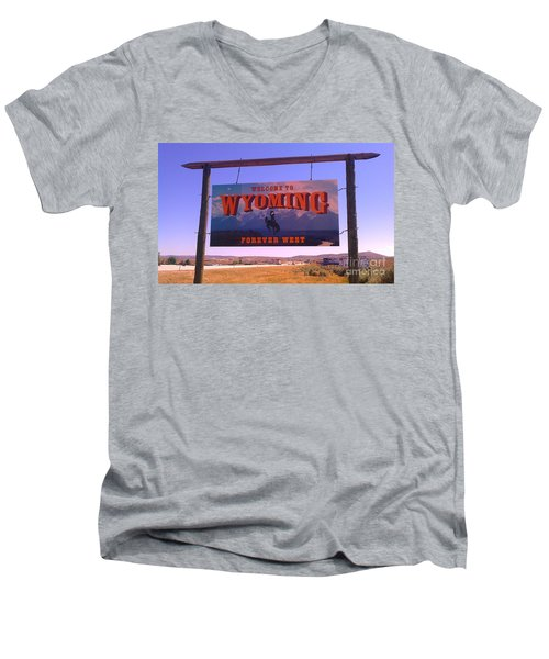Men's V-Neck T-Shirt featuring the photograph Forever West by Chris Tarpening