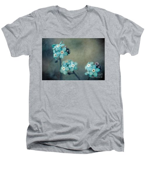 Forget Me Not 01 - S22dt06 Men's V-Neck T-Shirt by Variance Collections