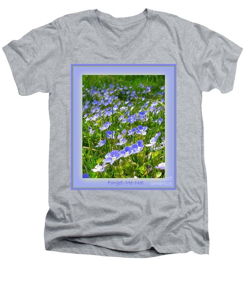 Forget Me Not Men's V-Neck T-Shirt