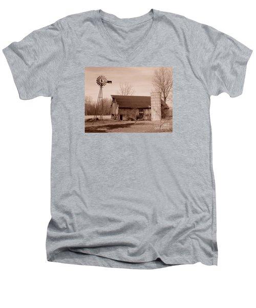 Forgotten Farm Men's V-Neck T-Shirt by Judy Whitton
