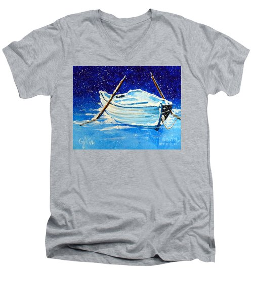 Forgotten Rowboat Men's V-Neck T-Shirt by Jackie Carpenter