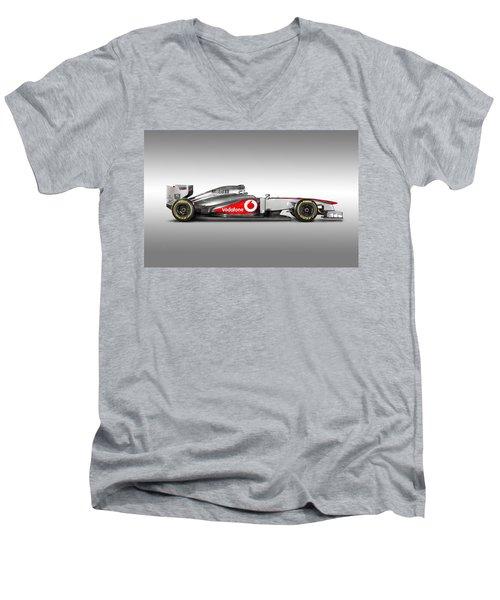 Formula 1 Mclaren Mp4-28 2013 Men's V-Neck T-Shirt