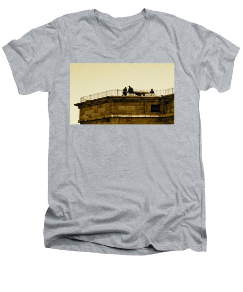 Fort Delaware Cleaning Crew Men's V-Neck T-Shirt