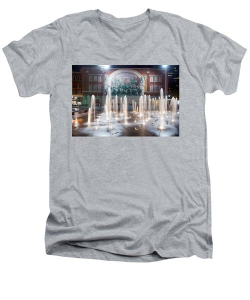 Fort Worth Sundance Square Aug 2014 Men's V-Neck T-Shirt