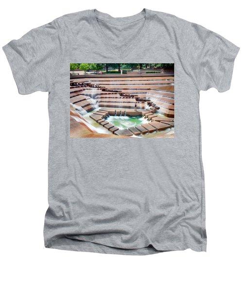 Fort Worth Water Garden V7 Men's V-Neck T-Shirt