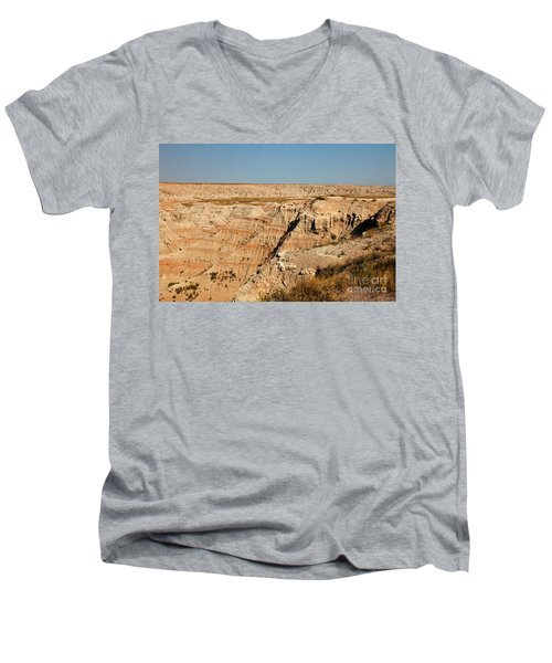 Fossil Exhibit Trail Badlands National Park Men's V-Neck T-Shirt