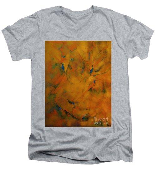Fossils Birds And Butterflys Men's V-Neck T-Shirt