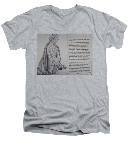 Founding Fathers Men's V-Neck T-Shirt by Christy Saunders Church