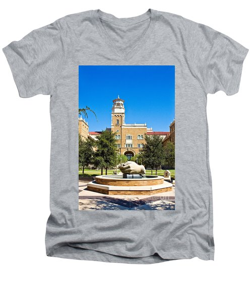 Men's V-Neck T-Shirt featuring the photograph Fountain Of Knowledge by Mae Wertz