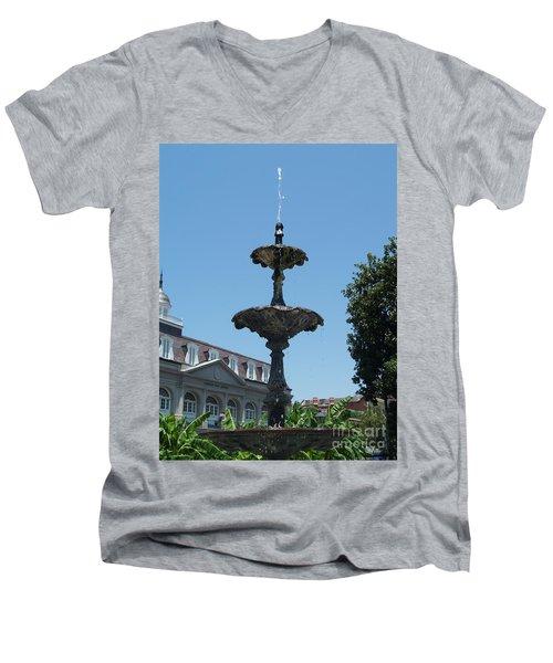 Fountain  Men's V-Neck T-Shirt by Robin Maria Pedrero