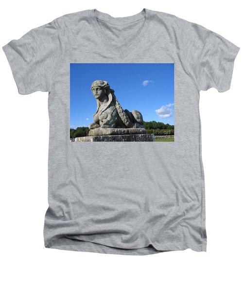 Fountainebleau Twin1 Men's V-Neck T-Shirt