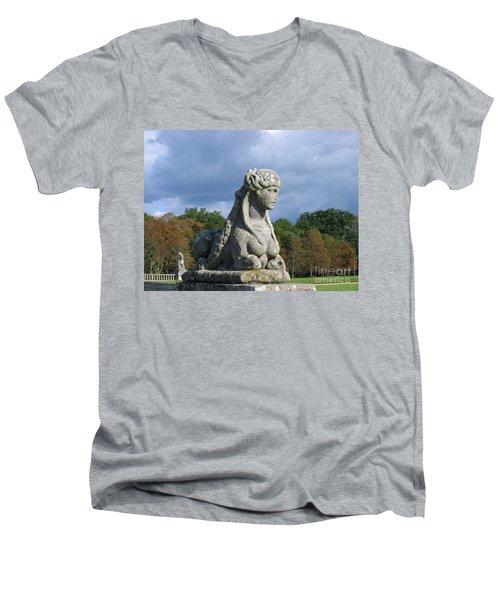 Fountainebleau Twin2 Men's V-Neck T-Shirt