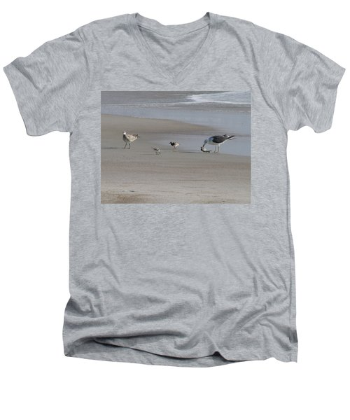 Four Feathers And A Fish Men's V-Neck T-Shirt