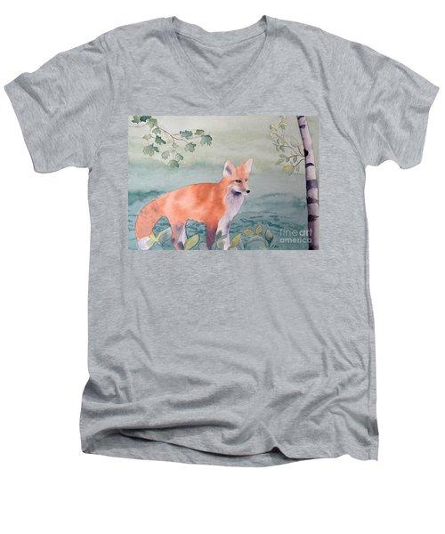Fox And Birch Men's V-Neck T-Shirt by Laurel Best