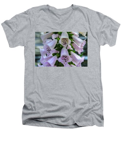 Foxglove At Waters Edge Men's V-Neck T-Shirt