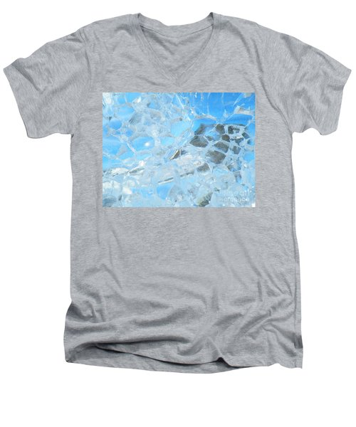 Men's V-Neck T-Shirt featuring the photograph Fracked  by Brian Boyle
