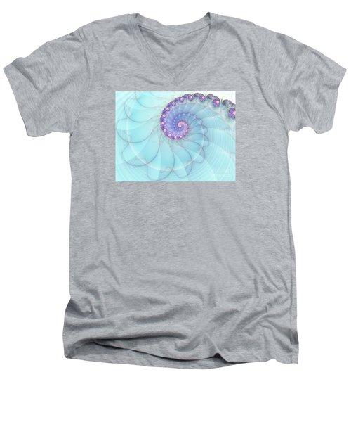 Fractal 17 Men's V-Neck T-Shirt by Lena Auxier
