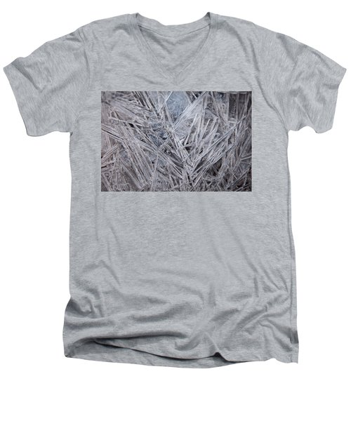 Frozen Fractal Men's V-Neck T-Shirt