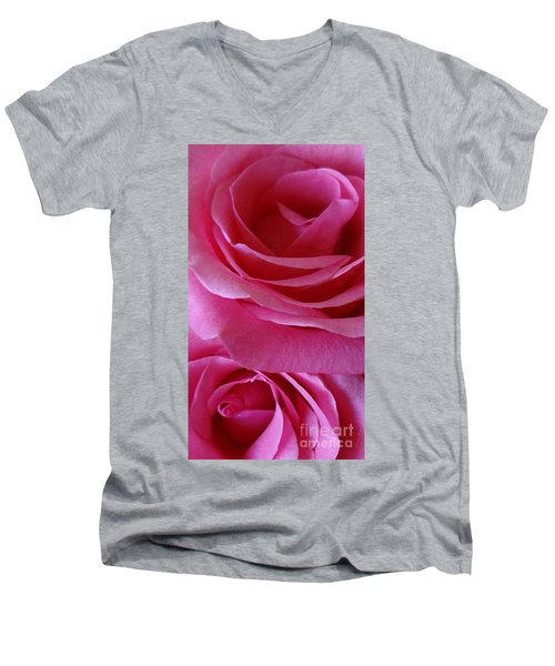 Face Of Roses 3 Men's V-Neck T-Shirt
