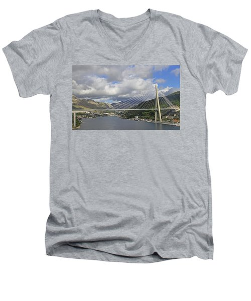 Franjo Tudman Bridge Men's V-Neck T-Shirt by Tony Murtagh