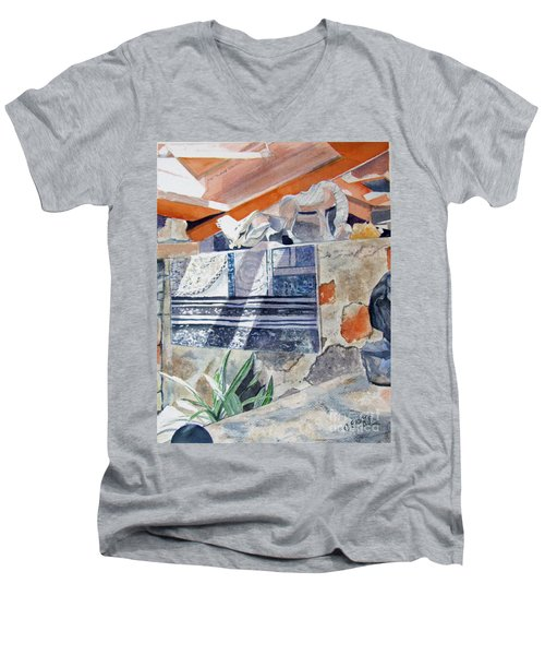 Frank Lloyd Wright Taliesin West 2 Men's V-Neck T-Shirt