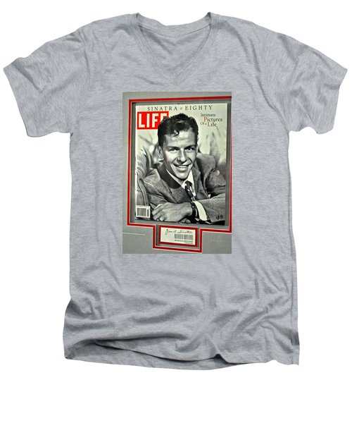 Frank Sinatra Life Cover Men's V-Neck T-Shirt