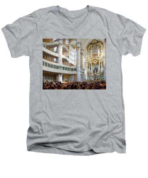 Frauenkirche Men's V-Neck T-Shirt by William Beuther