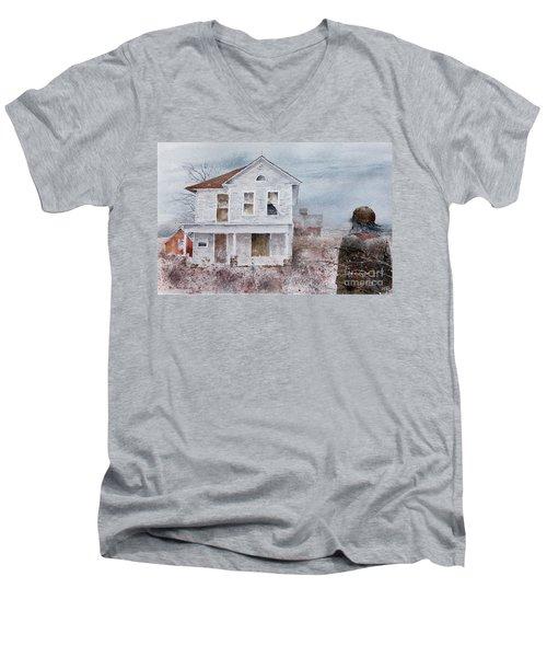 Frayed Men's V-Neck T-Shirt