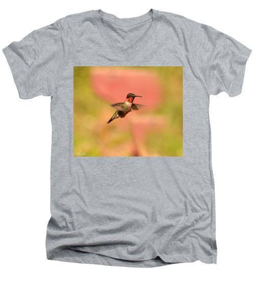 Free As A Bird Men's V-Neck T-Shirt by Lori Tambakis
