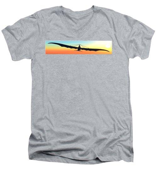 Men's V-Neck T-Shirt featuring the digital art Free... by Tim Fillingim