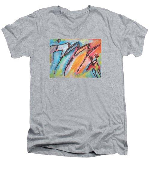 Freedom Joyful Ballet Men's V-Neck T-Shirt