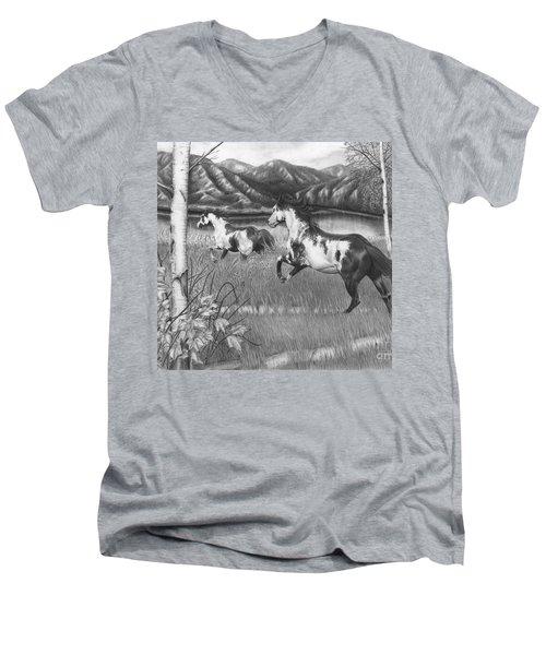 Freedom Run Men's V-Neck T-Shirt