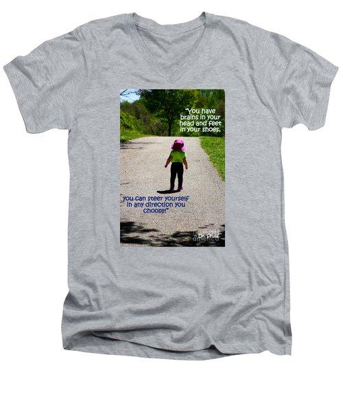 Momentary Freedom Men's V-Neck T-Shirt by Patti Whitten