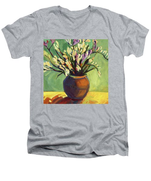 Freesias Men's V-Neck T-Shirt