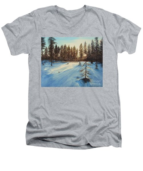 Freezing Forest Men's V-Neck T-Shirt