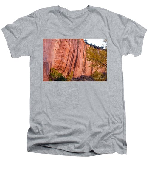 Fremont River Cliffs Capitol Reef National Park Men's V-Neck T-Shirt