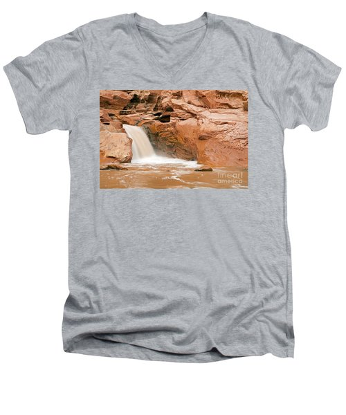 Fremont River Falls Capitol Reef National Park Men's V-Neck T-Shirt