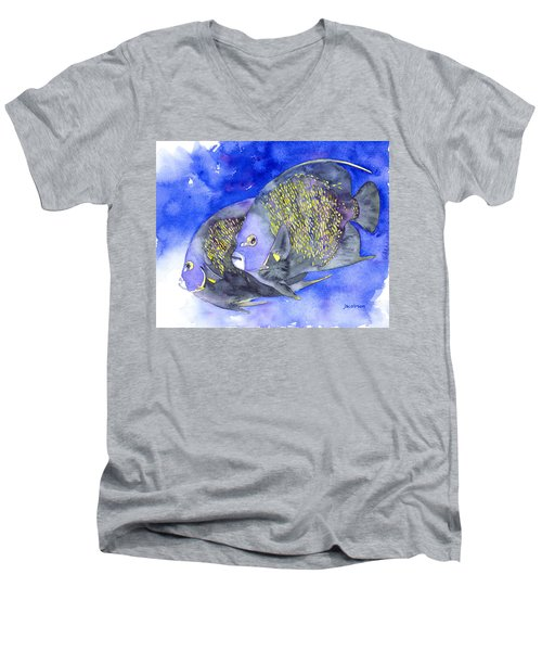 French Angelfish Men's V-Neck T-Shirt