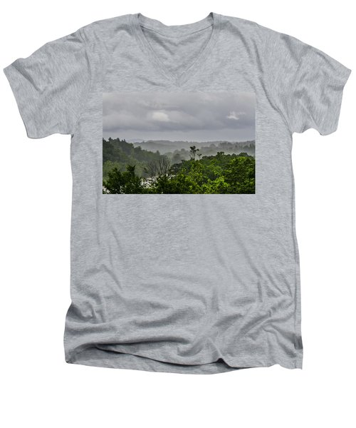 French Broad River Men's V-Neck T-Shirt